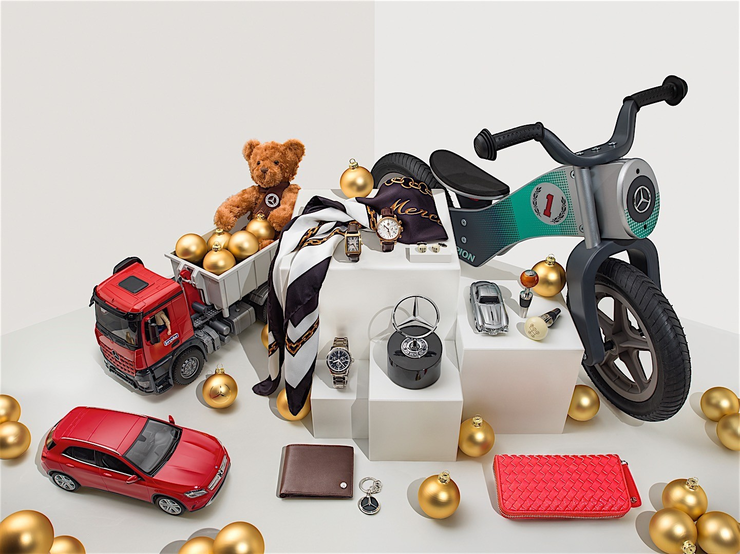 Mercedes benz tempts santa with a selection of gift ideas for Mercedes benz gifts
