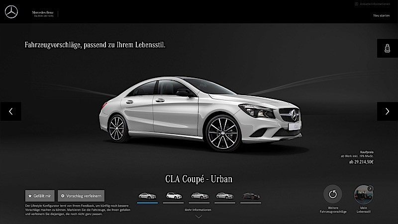 mercedes-benz to launch online configurator for women's lifestyle