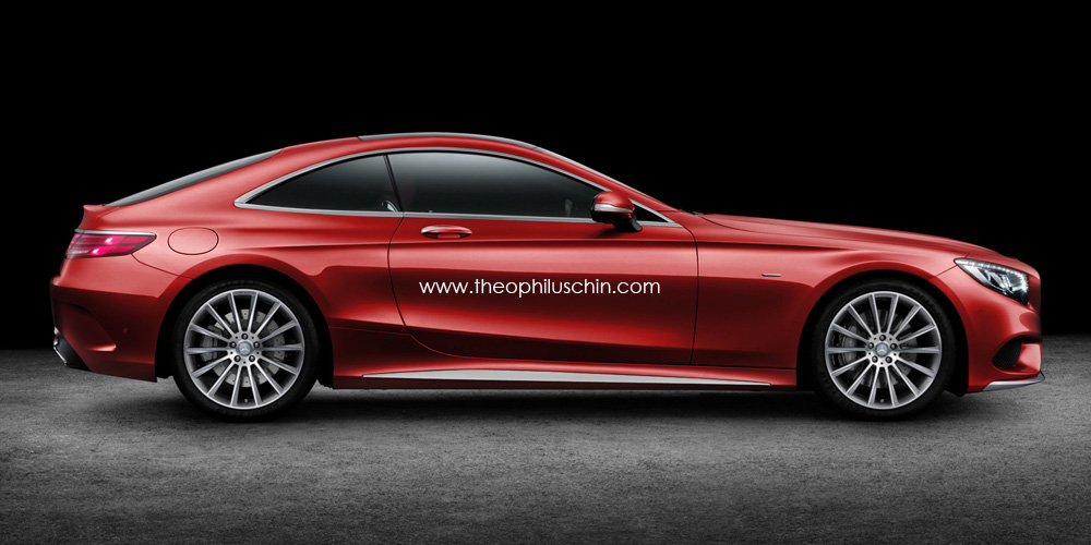 Mercedes benz two seater coupe rendering looks striking for Mercedes benz two seater