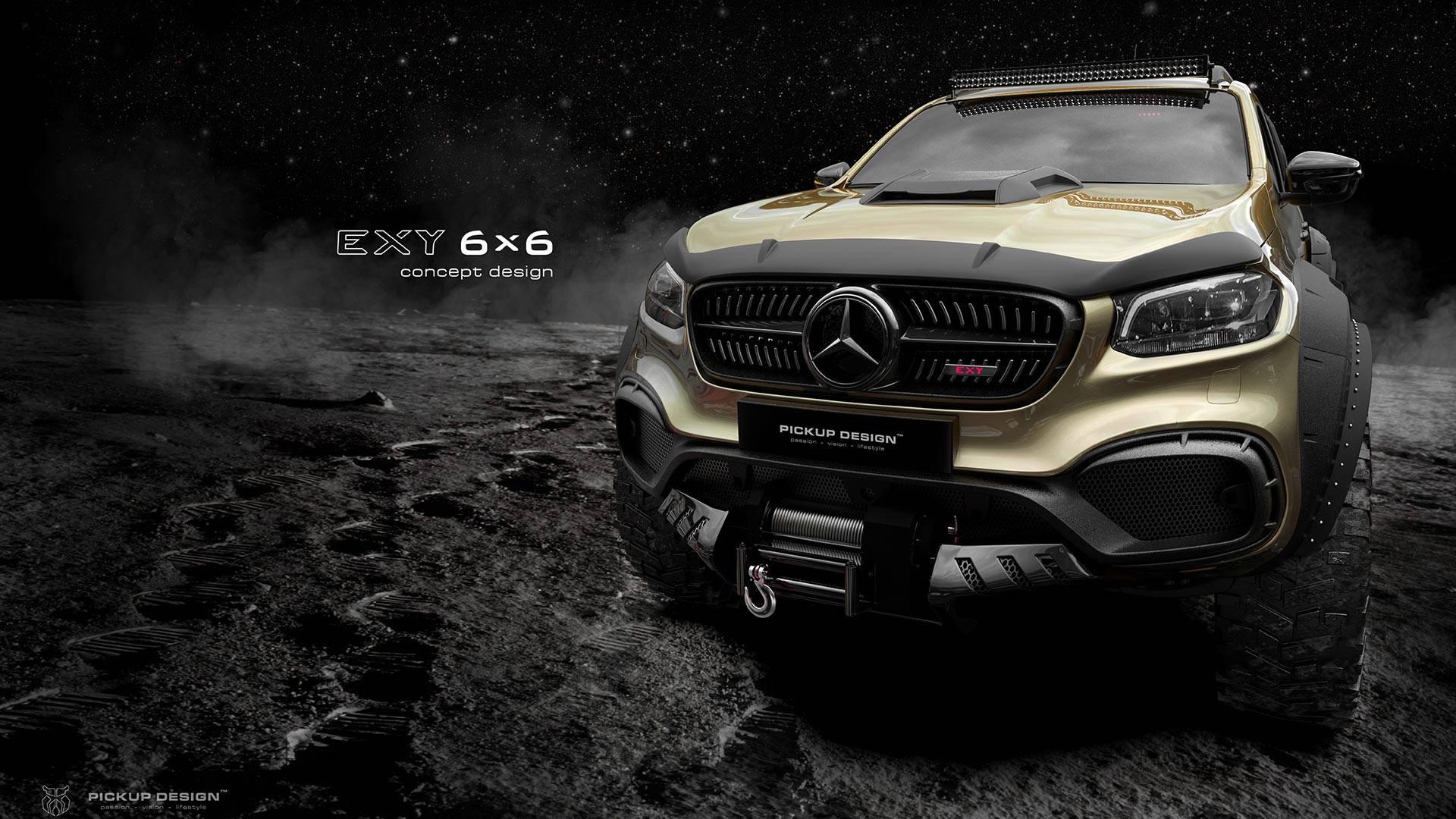 mercedes benz x class 6x6 pickup truck incoming autoevolution. Black Bedroom Furniture Sets. Home Design Ideas