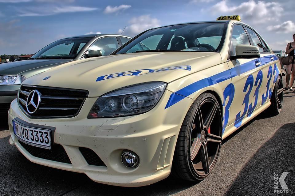 Mercedes c 63 amg with 660 hp is the fastest taxi in for Mercedes benz in germany
