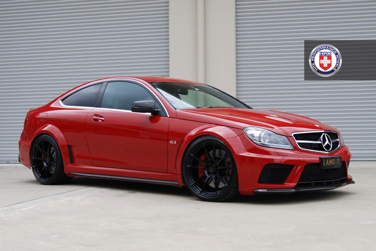 mercedes c63 amg black series on hre wheels autoevolution. Black Bedroom Furniture Sets. Home Design Ideas