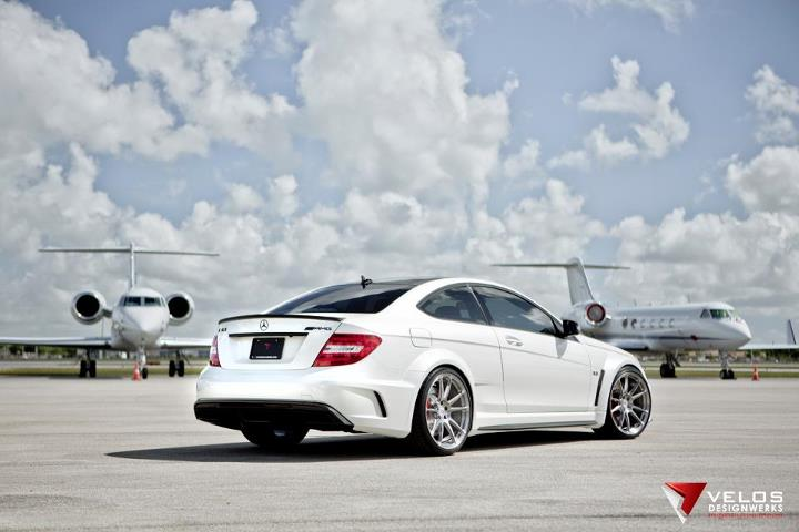 C63 Amg White Black Rims Mercedes C63 Amg Black Series