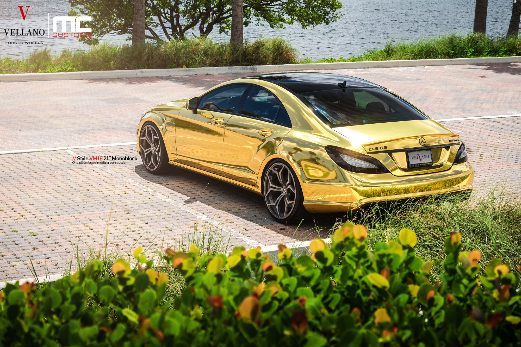 Mercedes Cls 63 Amg Makes Gold Wrap And Vellano Wheels Cool Photo Gallery 88943 on 2014 mercedes cls 63 amg