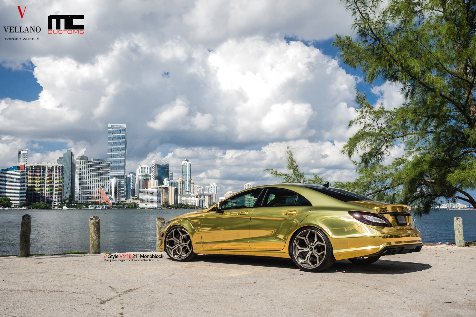 Mercedes Amg Gt Gold >> Mercedes CLS 63 AMG Makes Gold Wrap and Vellano Wheels Cool - autoevolution