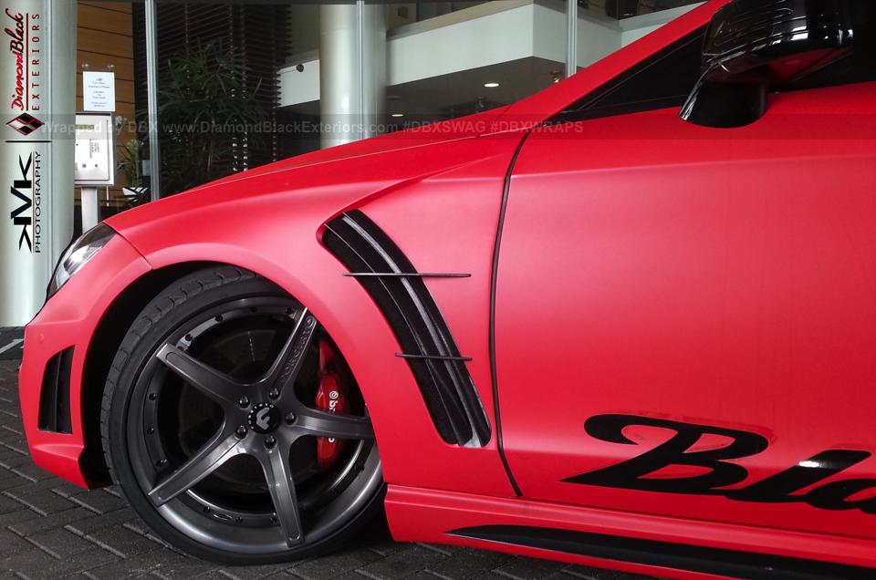 Mercedes Cls Black Bison In Matte Red Video Autoevolution