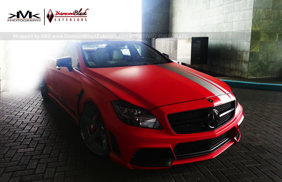 Mercedes V Class >> Mercedes CLS Black Bison in Matte Red [Video] - autoevolution