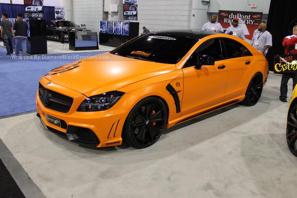 Mercedes Cls550 Black Bison Wrapped In Orange By Dbx
