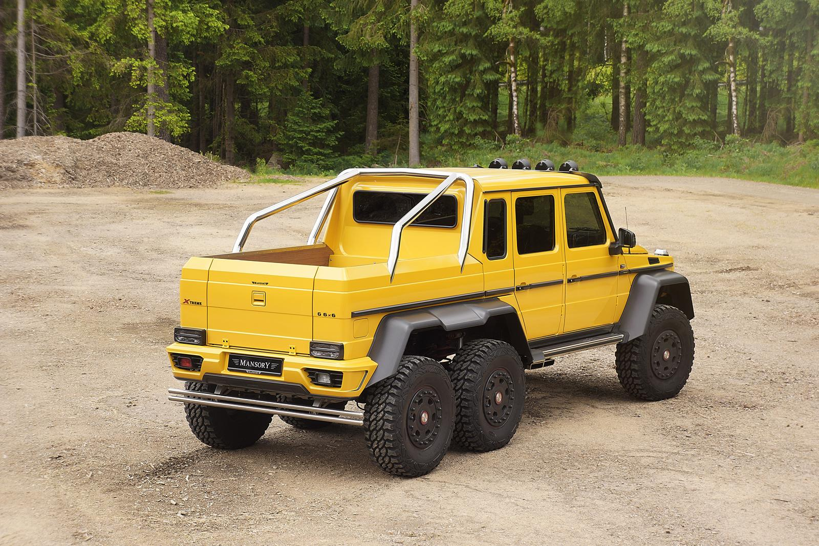 mercedes g63 amg 6x6 tuned to 840 hpmansory, stuffed with