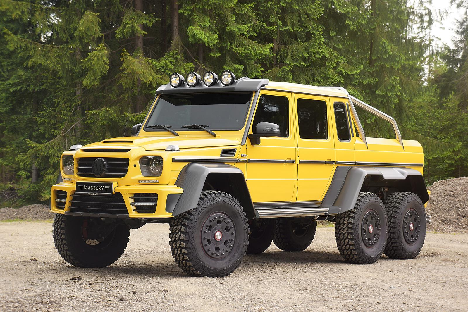 Mercedes g63 amg 6x6 tuned to 840 hp by mansory stuffed for Mercedes benz g 63