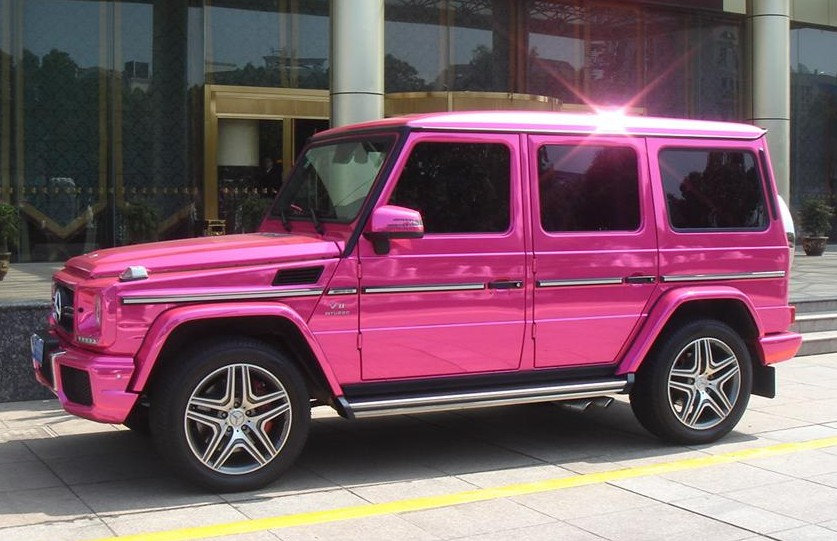 g55 amg_Mercedes G63 AMG Pink Chrome Wrap in China - autoevolution