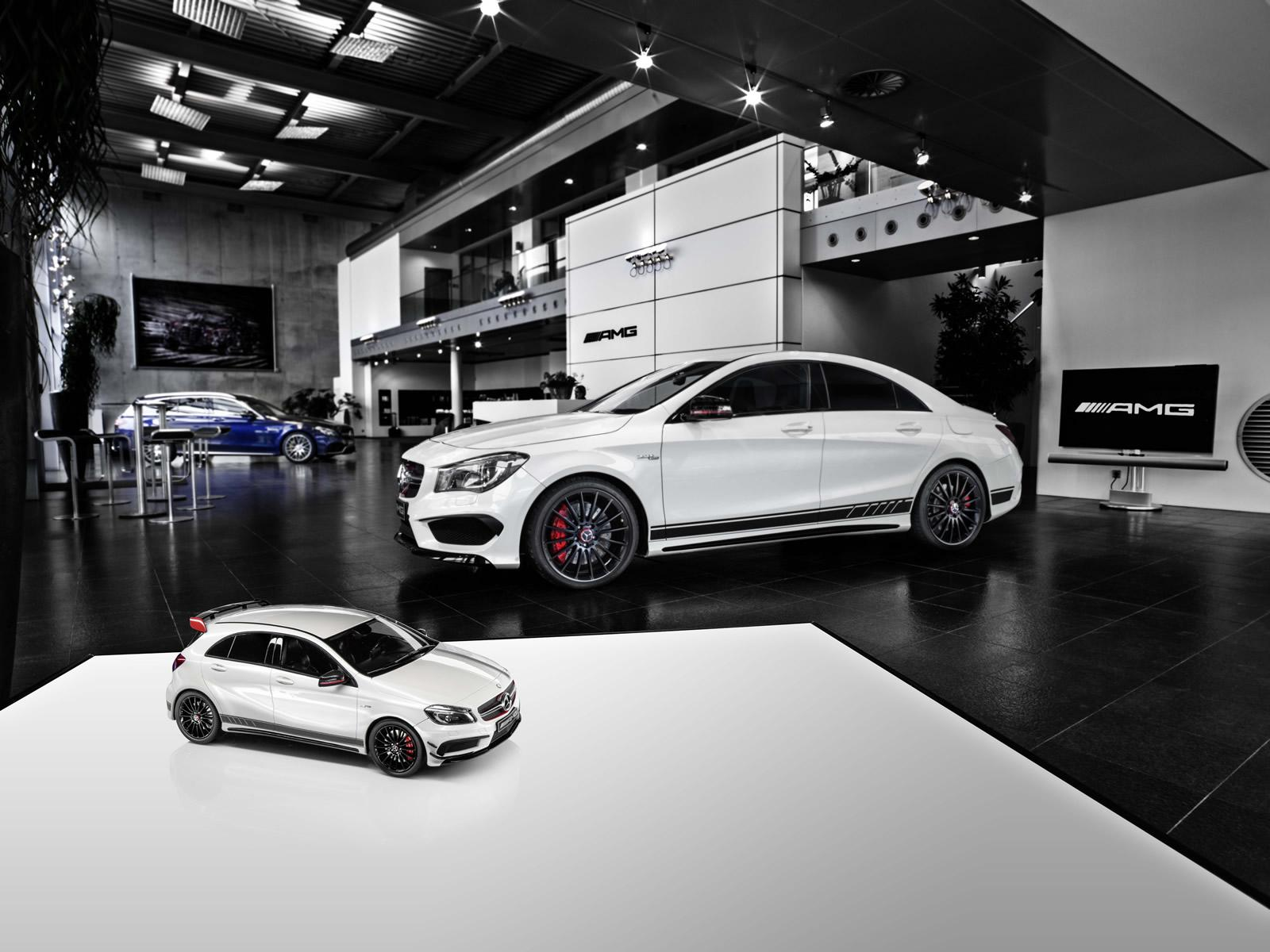 mercedes a45 amg white series scale model