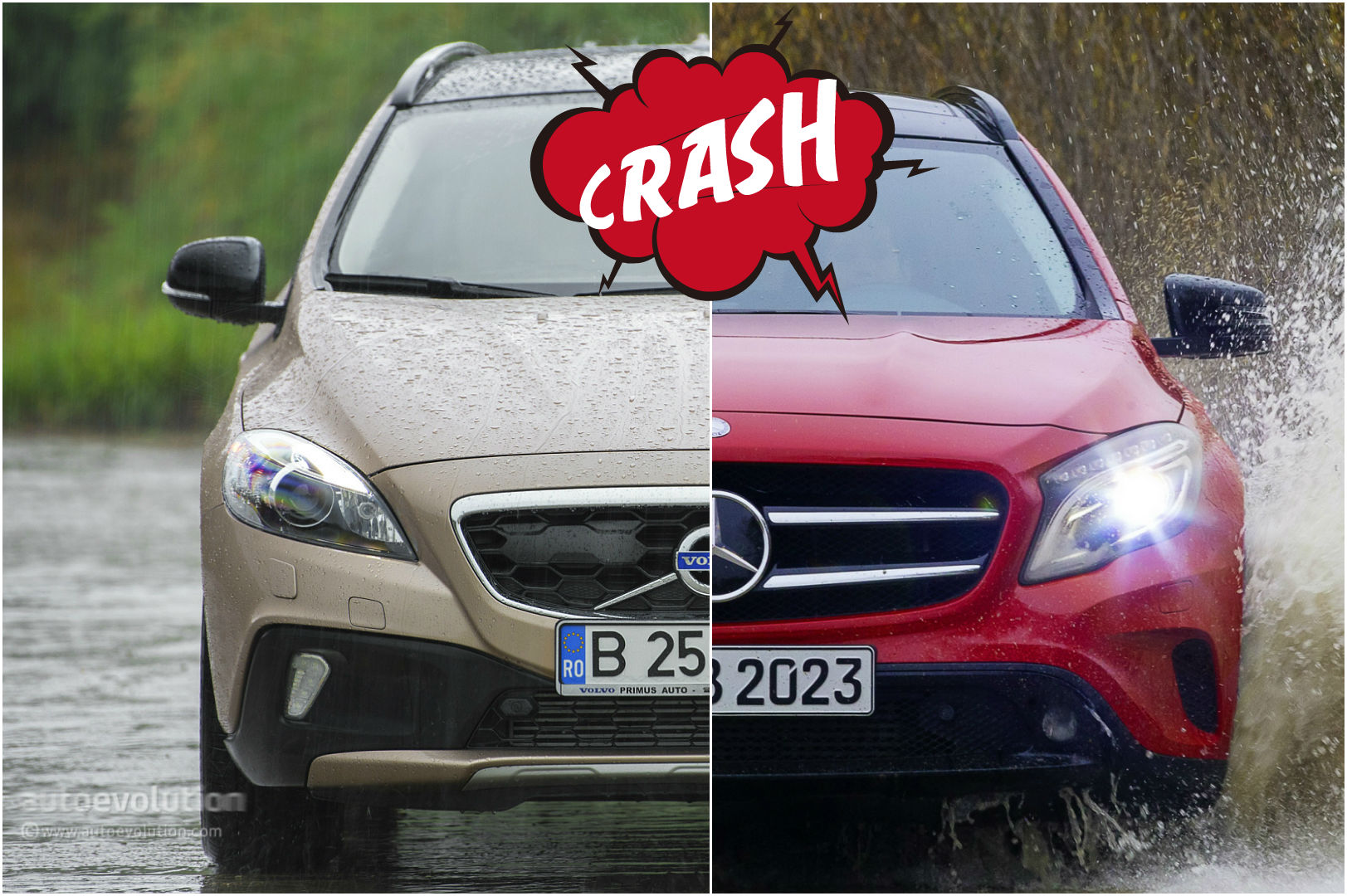 Mercedes GLA 220 CDI vs Volvo V40 Cross Country D4: the Cross-Hatch Comparison - autoevolution