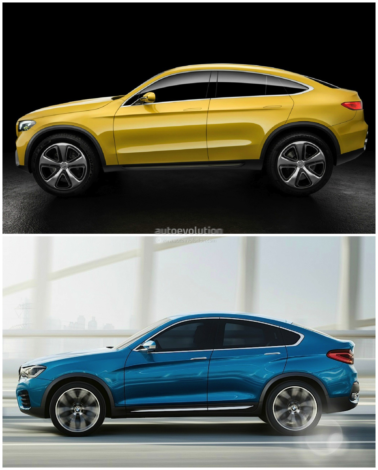 mercedes glc coupe vs bmw x4 the sports activity coupe battle continues autoevolution. Black Bedroom Furniture Sets. Home Design Ideas