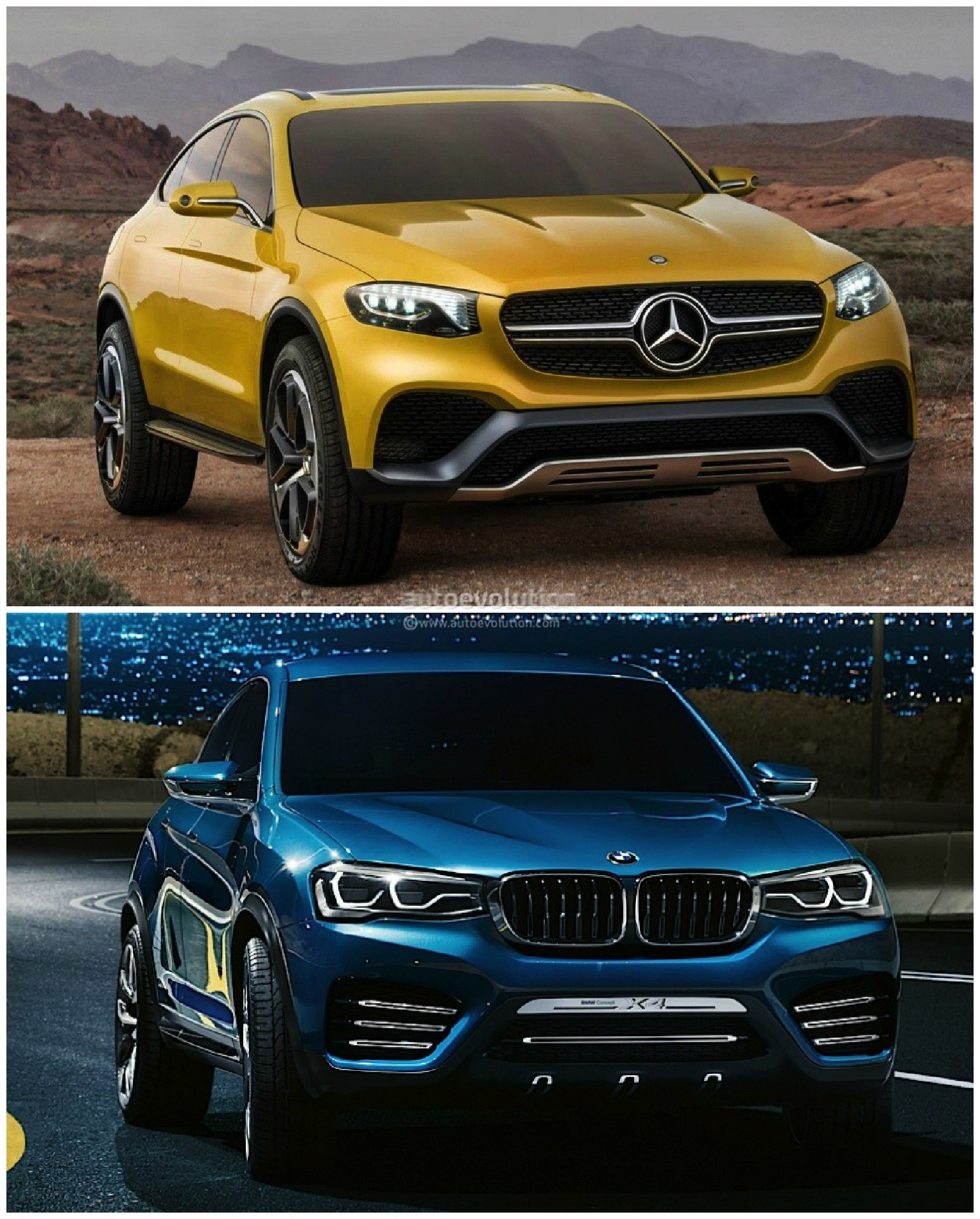 Mercedes Glc Coupe Vs Bmw X4 The Sports Activity Coupe