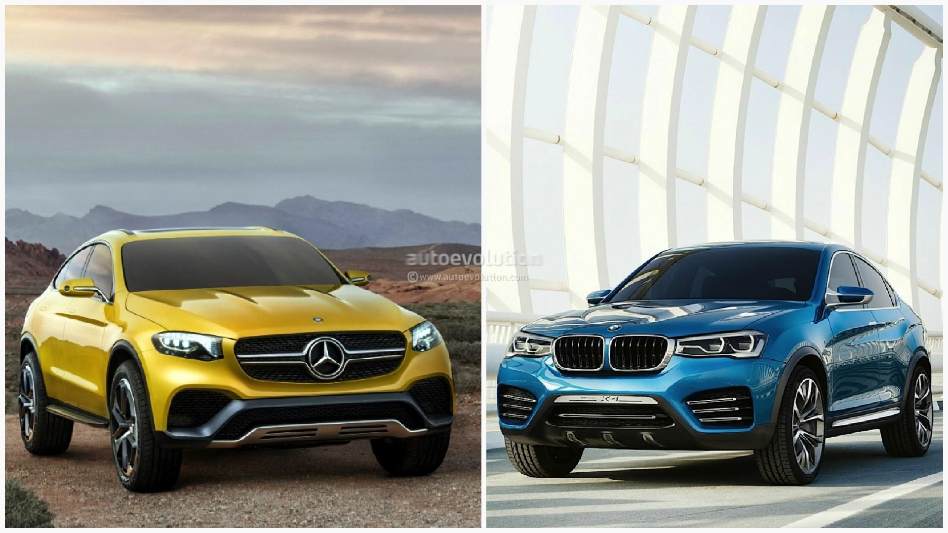 Mercedes GLC Coupe vs. BMW X4: The Sports Activity Coupe Battle ...