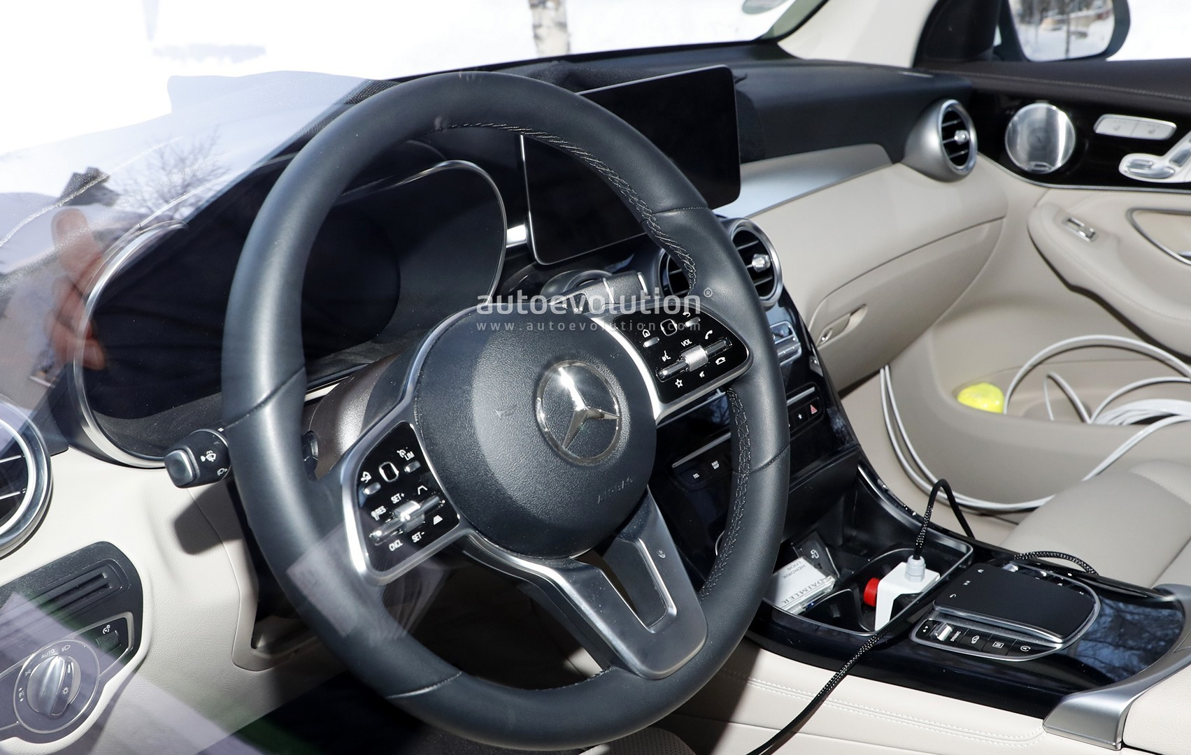 Mercedes GLC Facelift Spied, Reveals Interior Changes ...