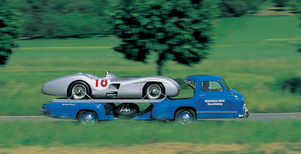 Mercedes Renntransporter The Fastest Racing Car Hauler
