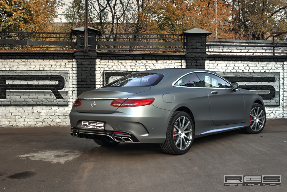 Mercedes C Class Coupe >> Mercedes S63 AMG Coupe Wrapped in Matte Gray by Re-Styling ...