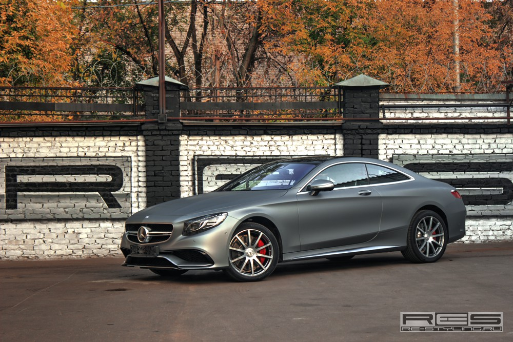 2016 Mercedes Benz Amg E 63 Sedan >> Mercedes S63 AMG Coupe Wrapped in Matte Gray by Re-Styling ...