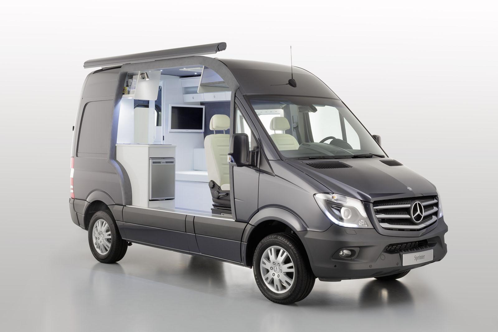 mercedes showcases sprinter caravan cut away autoevolution. Black Bedroom Furniture Sets. Home Design Ideas