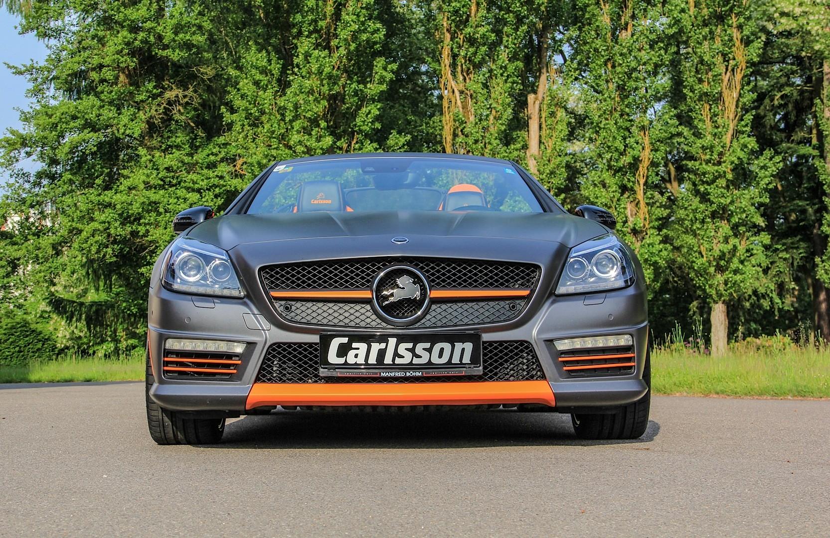 Mercedes slk 55 amg gets carlsson interior with orange and for Mercedes benz slk 55 amg special edition