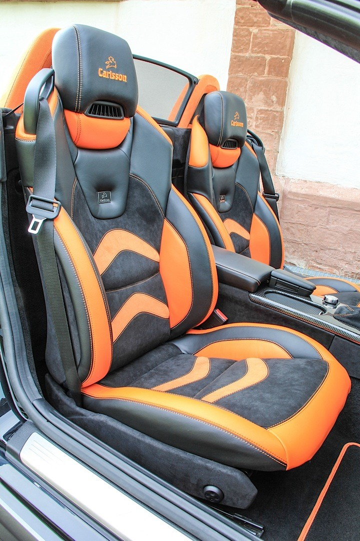 Mercedes Slk 55 Amg Gets Carlsson Interior With Orange And