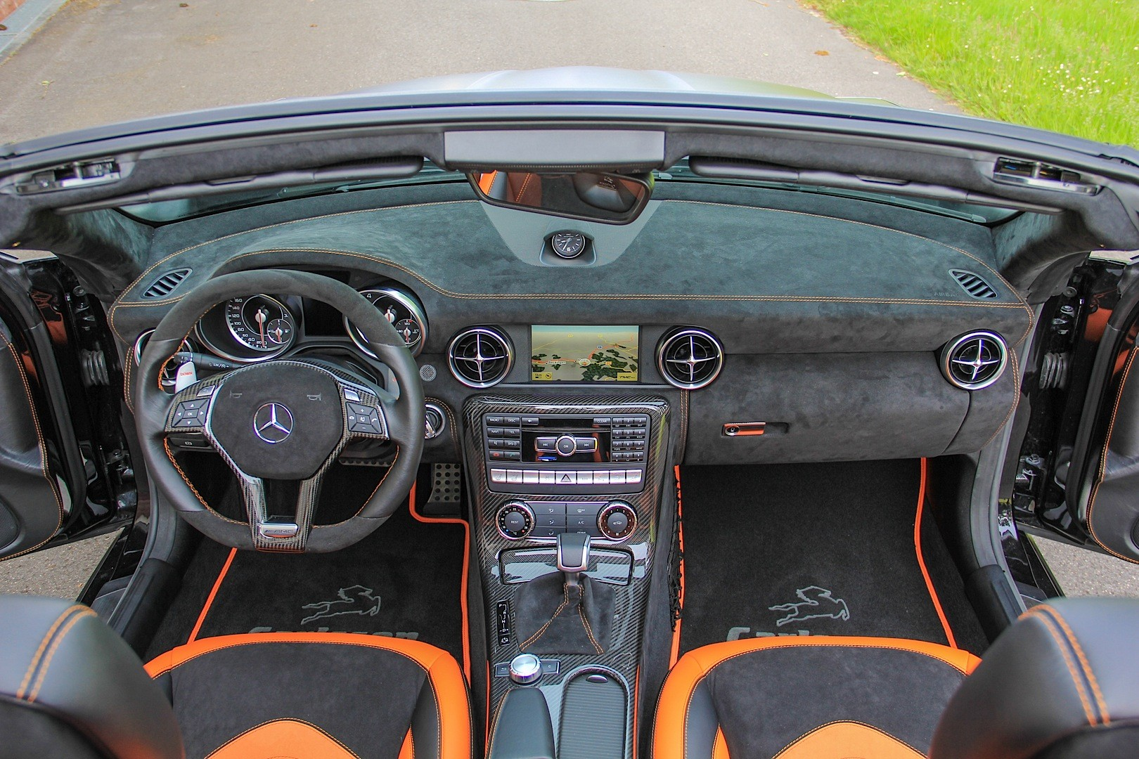 Mercedes Slk 55 Amg Gets Carlsson Interior With Orange And
