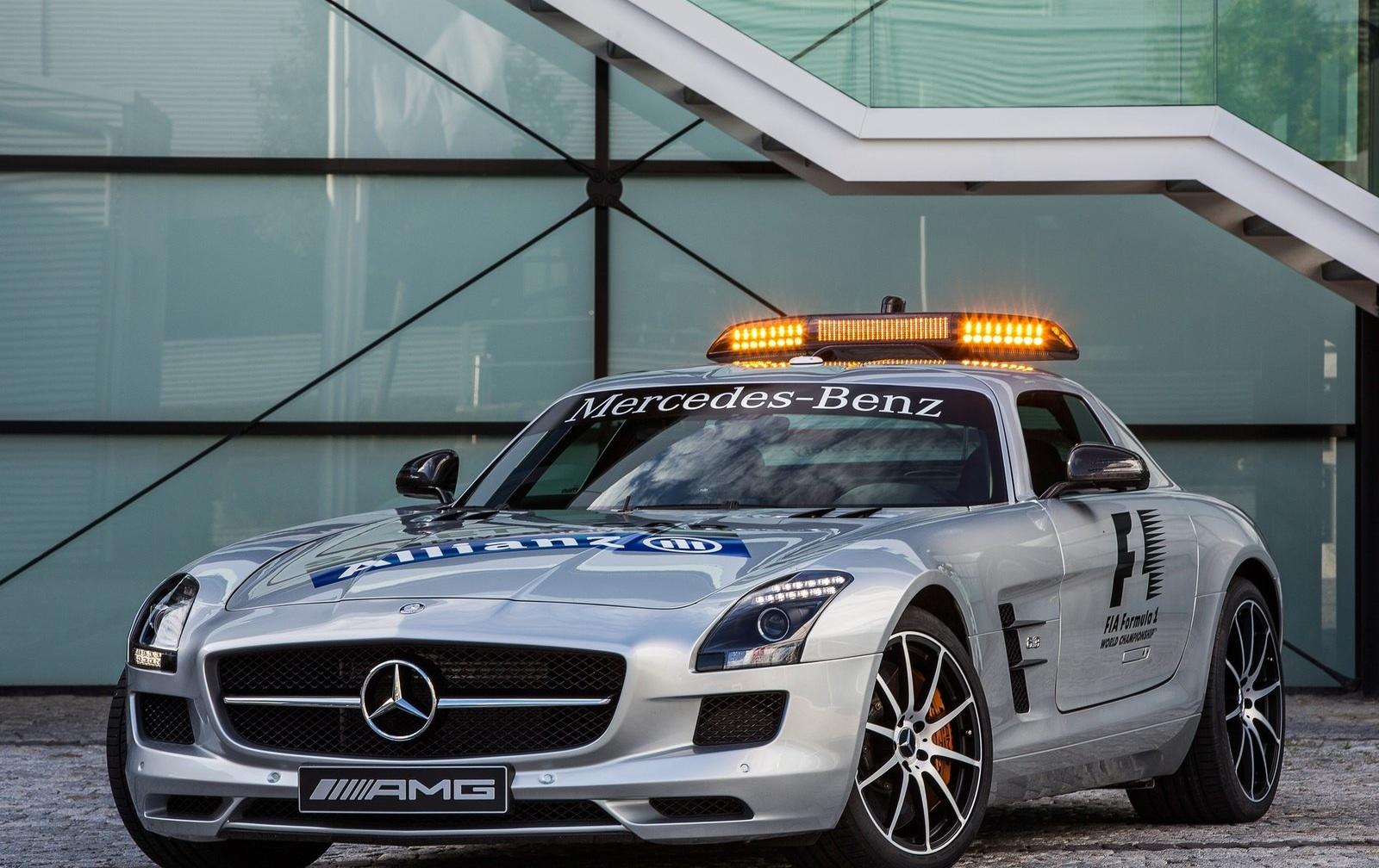 mercedes sls amg gt f1 safety car unveiled autoevolution. Black Bedroom Furniture Sets. Home Design Ideas