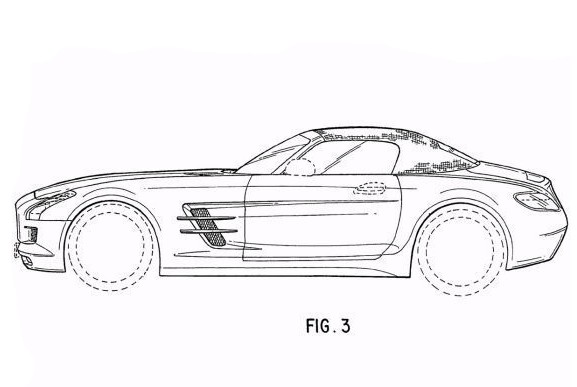 mercedes sls amg roadster revealed by drawings