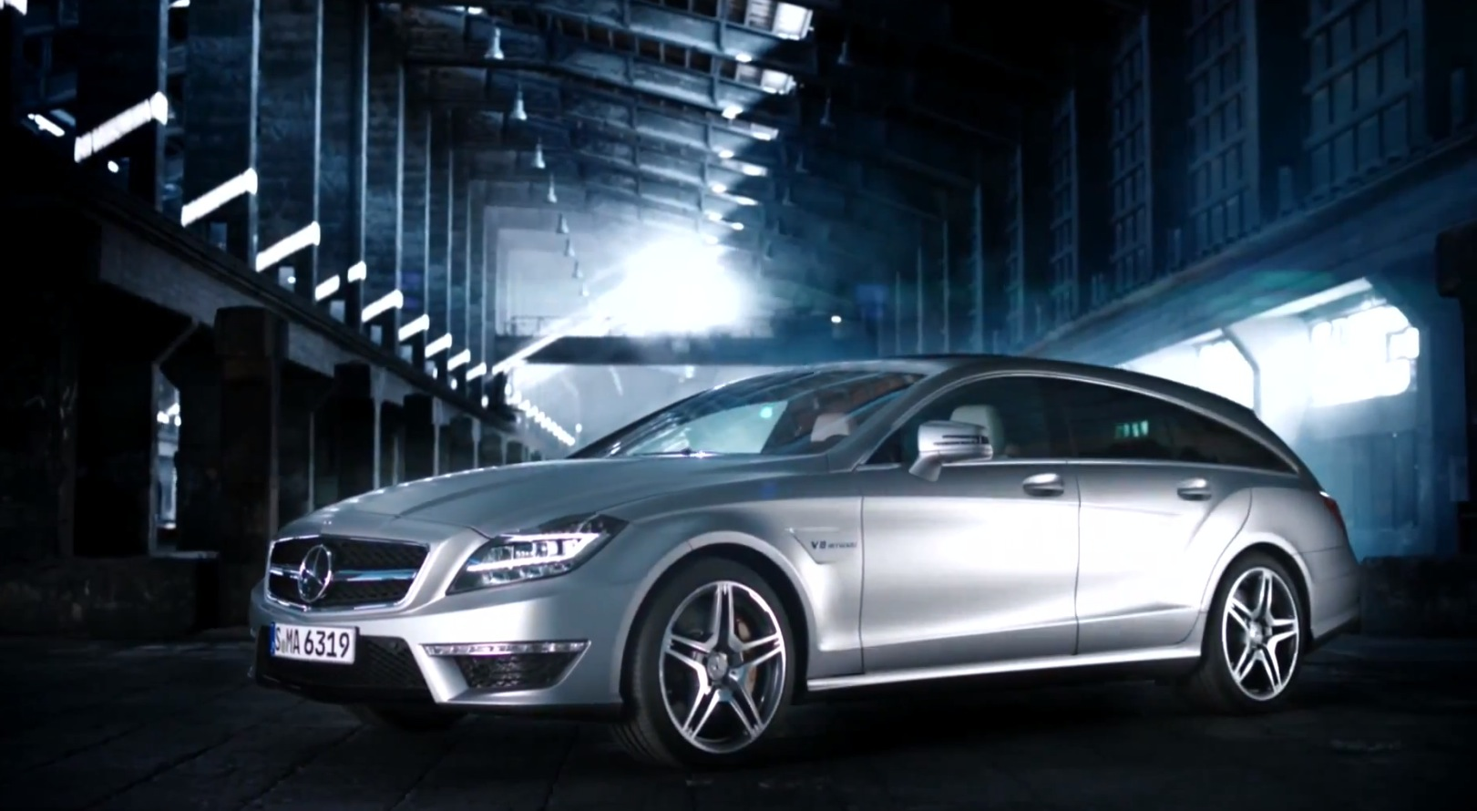 mercedes teases cls63 amg shooting brake video autoevolution. Black Bedroom Furniture Sets. Home Design Ideas