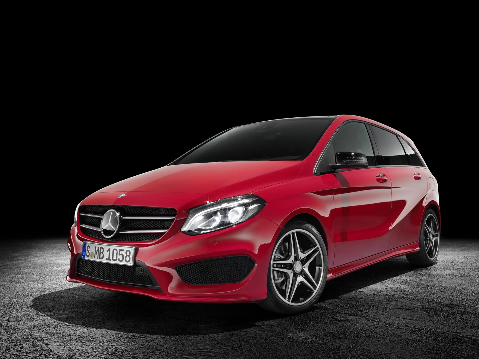 mercedes updates the b class with led headlights and amg package autoevolution. Black Bedroom Furniture Sets. Home Design Ideas