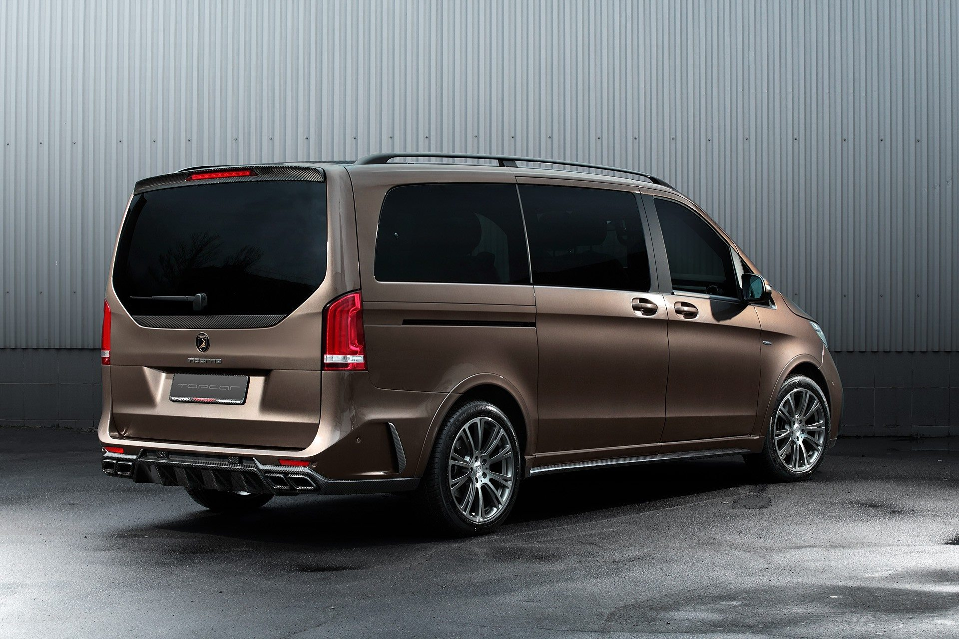 mercedes v class gets carbon hood in topcar inferno tuning. Black Bedroom Furniture Sets. Home Design Ideas
