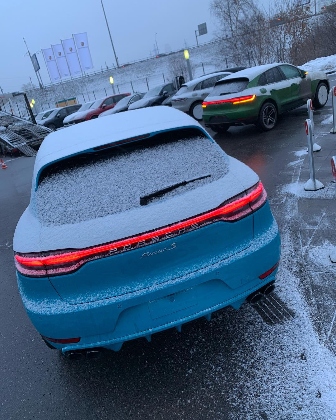 Miami Blue 2019 Porsche Macan S Arrives In Russia Looks Colorful