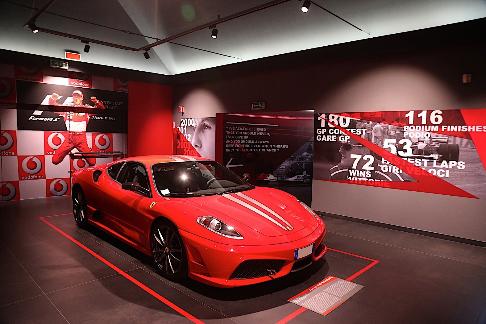 Michael 50 exhibit at the Ferrari museum