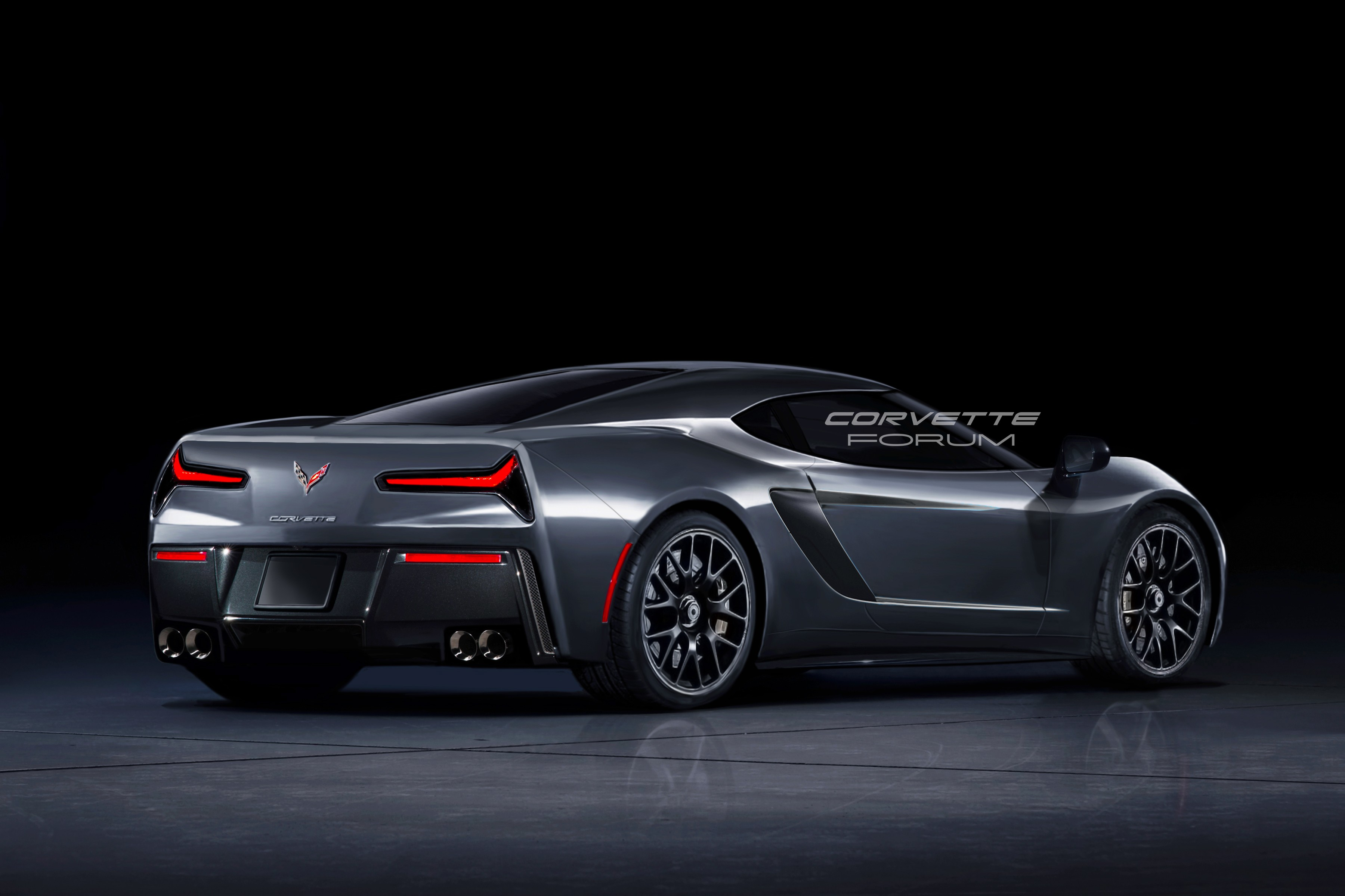 Mid-Engine Corvette (C8) Front And Rear Bumpers Photographed In The