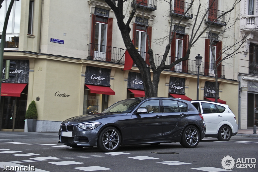 Mineral grey bmw f21 m135i spotted in madrid autoevolution