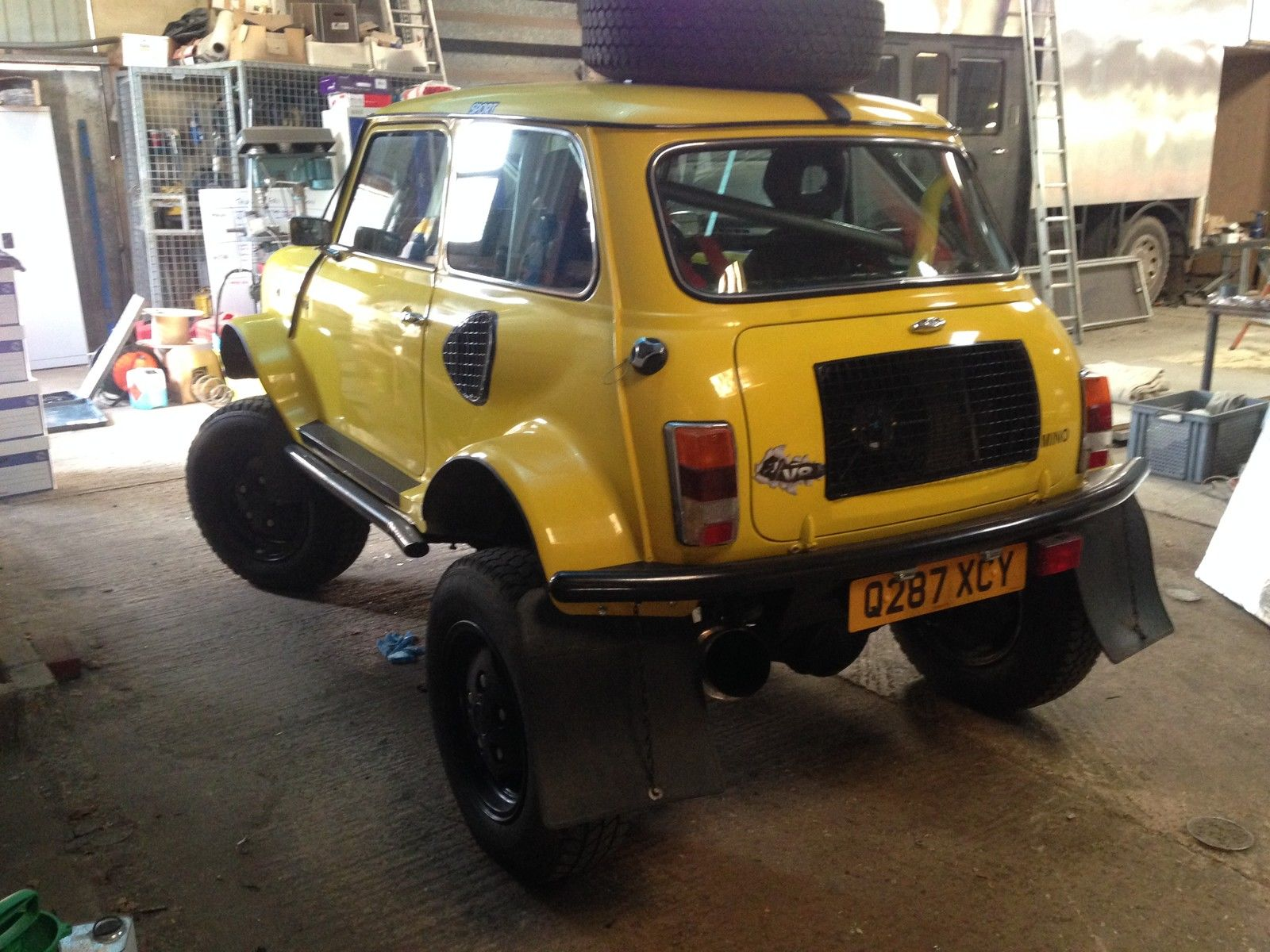 Mini Body With Range Rover Chassis And V8 Makes For An