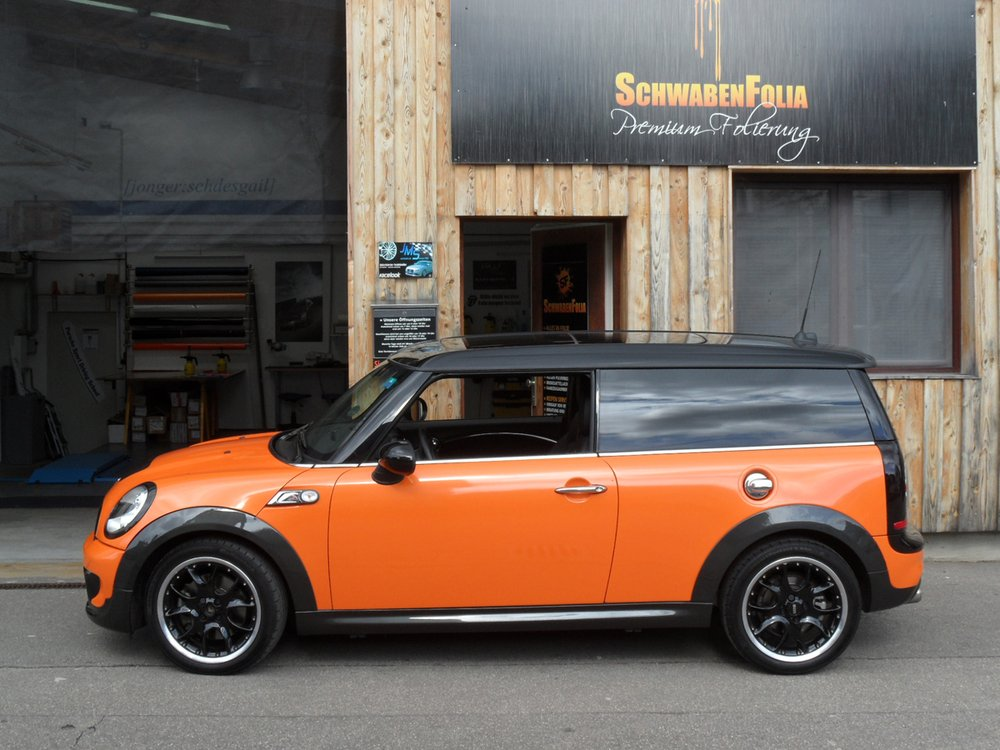 Mini Cooper Clubman S Goes Toxic Orange At Schwaben Folia