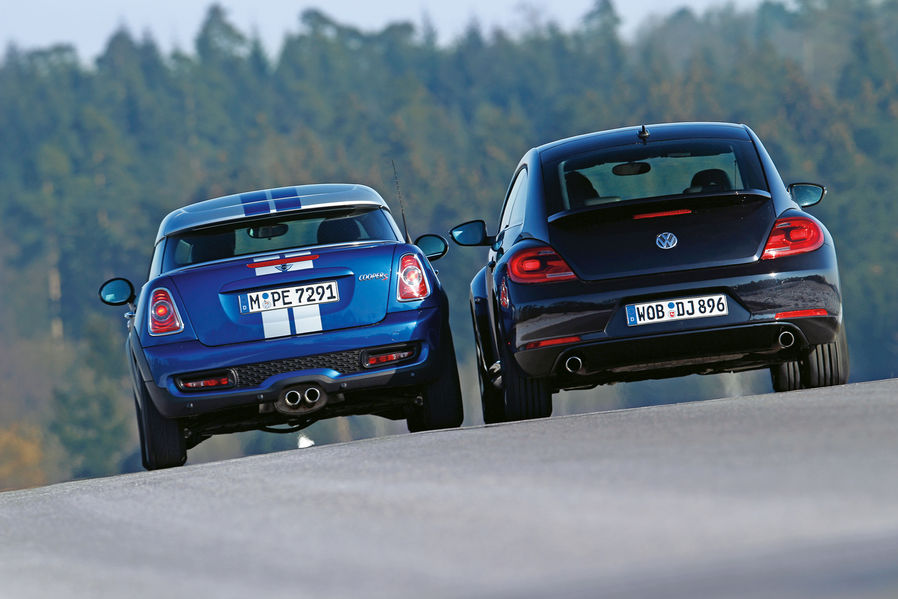 Mini Cooper S Coupe Vs Vw Beetle Sport By Sportauto De