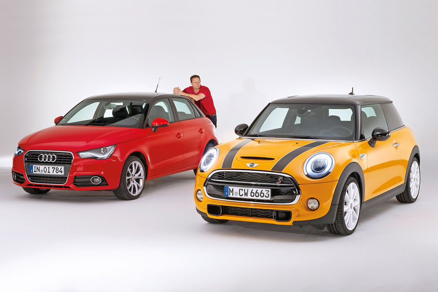 mini cooper s takes on audi a1 on first comparison autoevolution. Black Bedroom Furniture Sets. Home Design Ideas