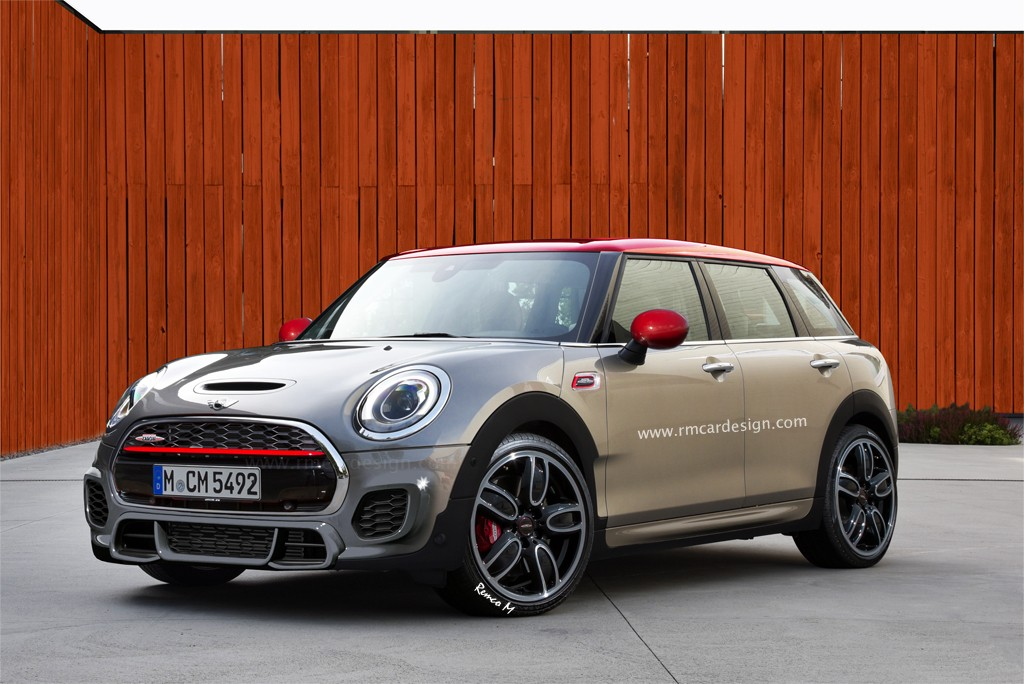 Mini john cooper works clubman rendered proves jcw name is just a trim level now autoevolution