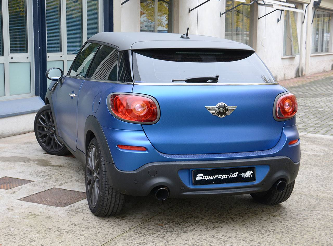 mini paceman cooper s fitted with supersprint exhaust. Black Bedroom Furniture Sets. Home Design Ideas