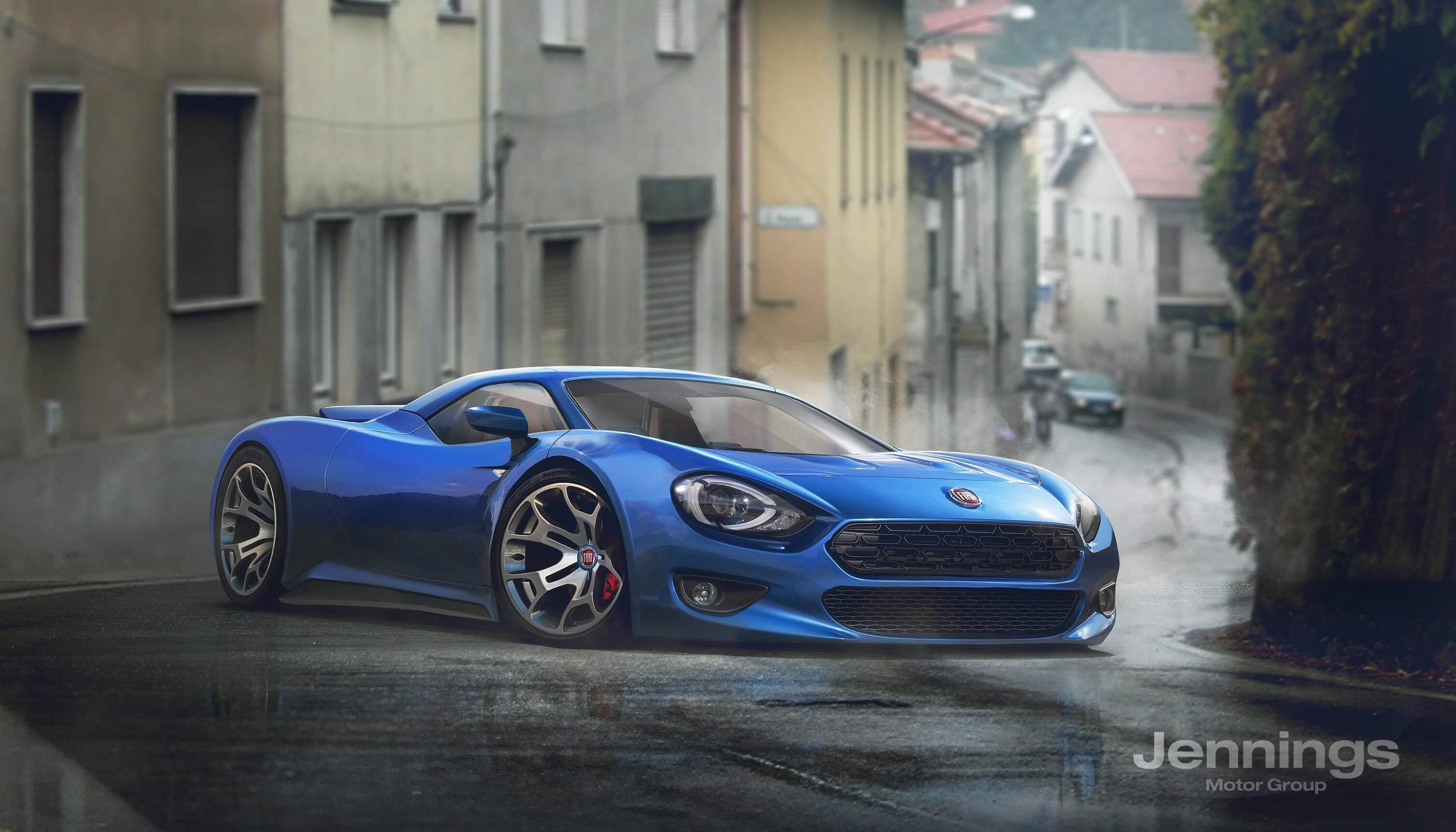 Fiat 124 Targa Rendering Is Inspired By The Mx 5 Rf Autoevolution