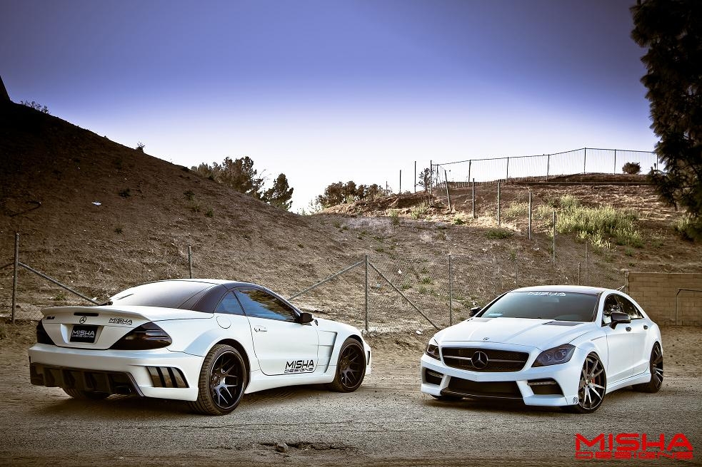 Misha design mercedes cls and sl video autoevolution for Mercedes benz amg kit