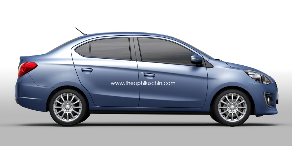 Mitsubishi Mirage Sedan Rendering Autoevolution