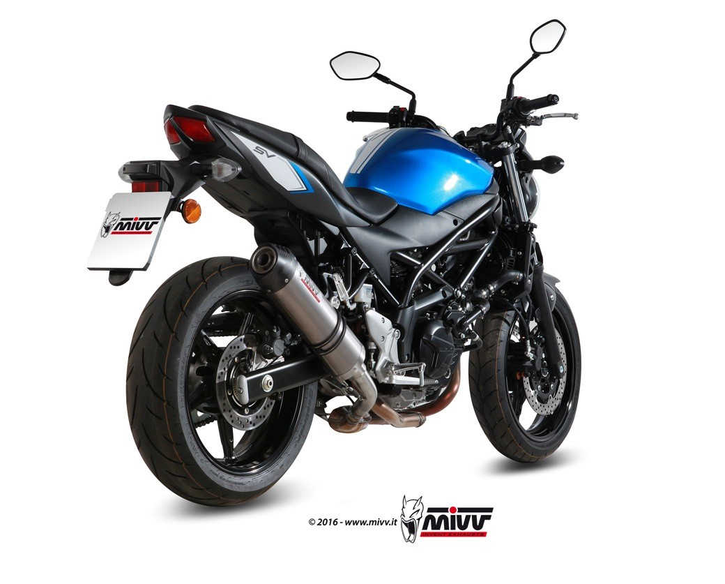 mivv unveils new exhausts for bmw r1200r and suzuki sv650. Black Bedroom Furniture Sets. Home Design Ideas