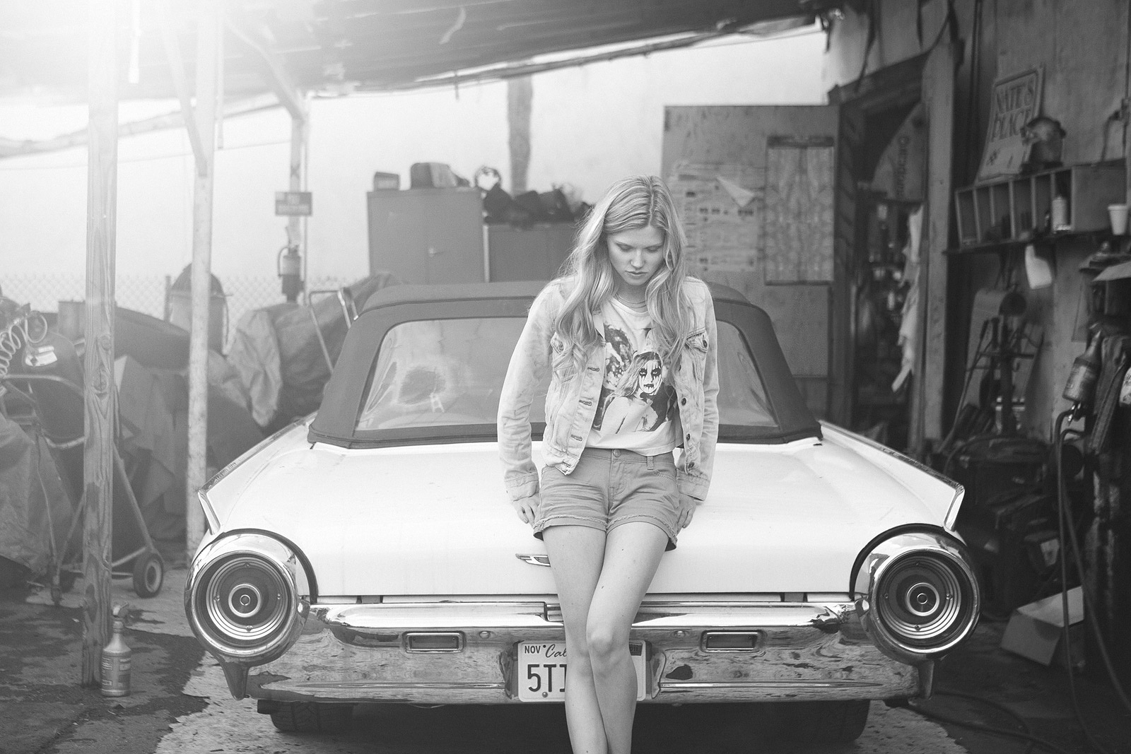 Models Posing Next To Classic Fords And Chevys Look Good