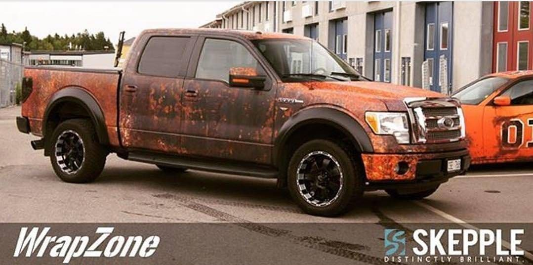 Modern Ford F 150 Gets Rusty Wrap