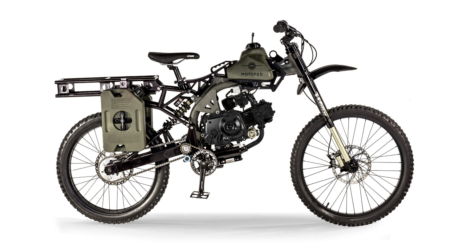 motoped survival bike looks like a million bucks has 400 miles range autoevolution. Black Bedroom Furniture Sets. Home Design Ideas